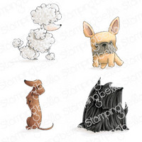 Stamping Bella - Frenchie, Scottie, Poodle and Dachsie, Leimasetti