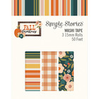 Simple Stories - Fall Farmhouse, Washi Tape, 3 rullaa