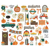Simple Stories - Fall Farmhouse Bits & Pieces Die-Cuts, 42 osaa