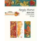 Simple Stories - Autumn Splendor, Washi Tape, 3 rullaa