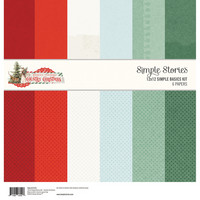 Simple Stories - Country Christmas, Basic Double-Sided Paper Pack 12