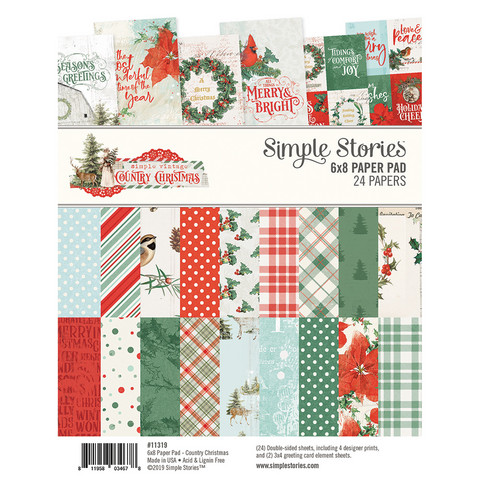 Simple Stories - Country Christmas, Paperikko 6''x8'', 24sivua