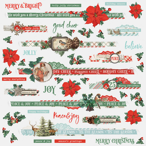 Simple Stories - Country Christmas Border Sticker 12