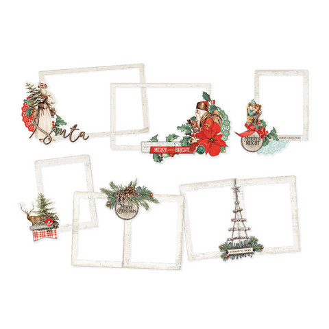 Simple Stories - Country Christmas Layered Frames Die-Cuts, 6 kpl