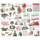 Simple Stories - Country Christmas, Bits & Pieces Die-Cuts, 49 osaa