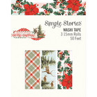 Simple Stories - Country Christmas, Washi Tape, 3 rullaa