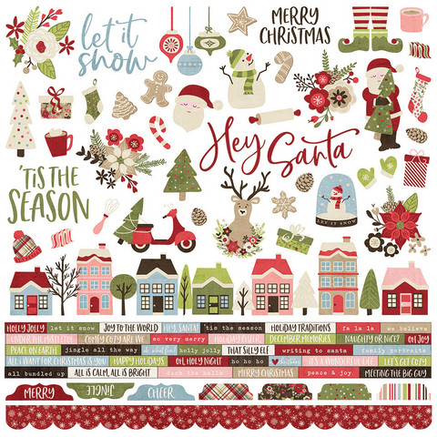 Simple Stories - Holly Jolly Combo Sticker 12