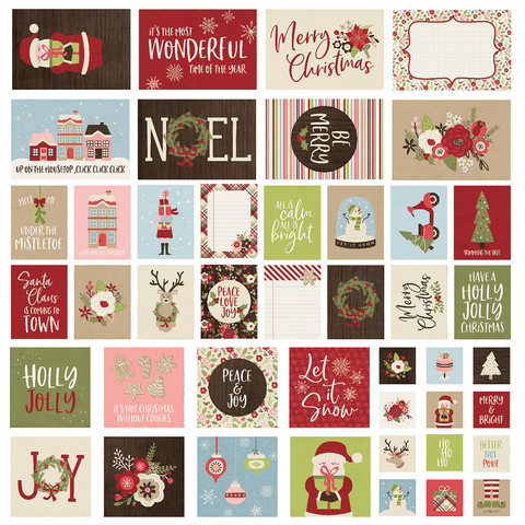 Simple Stories - Holly Jolly Sn@p! Card Pack, 48 osaa