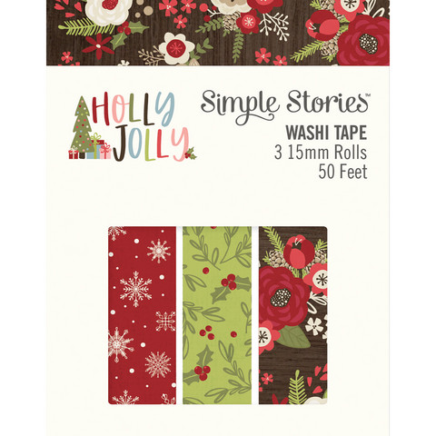 Simple Stories - Holly Jolly, Washi Tape, 3 rullaa