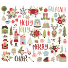 Simple Stories - Holly Jolly, Bits & Pieces Die-Cuts, 58 osaa