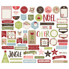 Simple Stories - Holly Jolly, Journal Bits & Pieces Die-Cuts, 61 osaa
