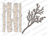 Impression Obsession - Birch Logs & Twigs, Stanssisetti
