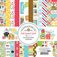 Doodlebug - I Heart Travel, Double-Sided Paper Pad 6