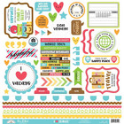 Doodlebug - I Heart Travel, Cardstock Stickers,12