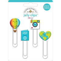 Doodlebug - I Heart Travel, Jelly Clips, 4 kpl