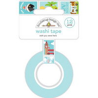Doodlebug - I Heart Travel, Washi Tape 25mmX8m, Wish You Were Here