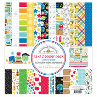 Doodlebug - School Days, Double-Sided Paper Pack 12