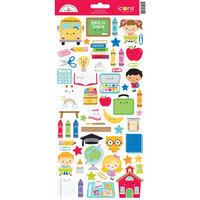 Doodlebug - School Days Icons, Cardstock Stickers