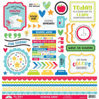 Doodlebug - School Days, This & That Cardstock Stickers, 12