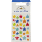 Doodlebug - School Days, Sprinkles Adhesive Glossy Enamel Shapes, You're A Star, 33 osaa
