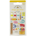 Doodlebug - School Days, Sprinkles Adhesive Glossy Enamel Shapes, School Supplies, 20 osaa