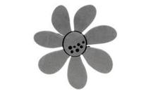 ArtFoamies - Darling Daisy Large, Vaahtomuovileimasin
