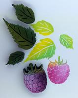 ArtFoamies - Raspberries and Leaves, Vaahtomuovileimasinsetti
