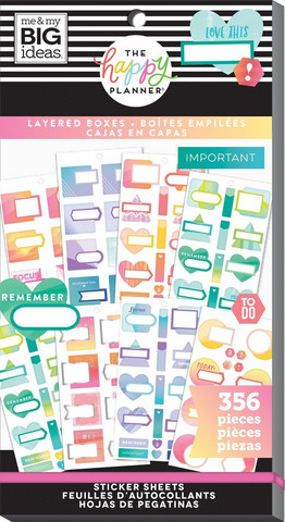 MAMBI - Happy Planner tarrasetti, Layered Boxes, 30arkkia