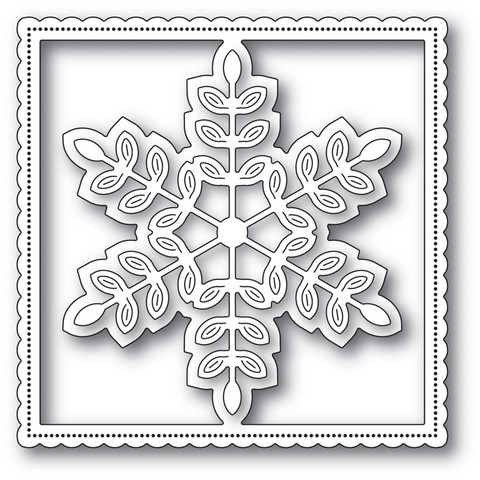 Poppy Stamps - Leafy Snowflake Frame, Stanssi