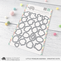 Mama Elephant - Little Penguin Agenda, Creative Cuts, Stanssisetti