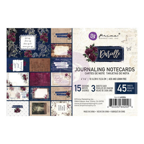 Prima Marketing - Darcelle Journaling Notecards, 4