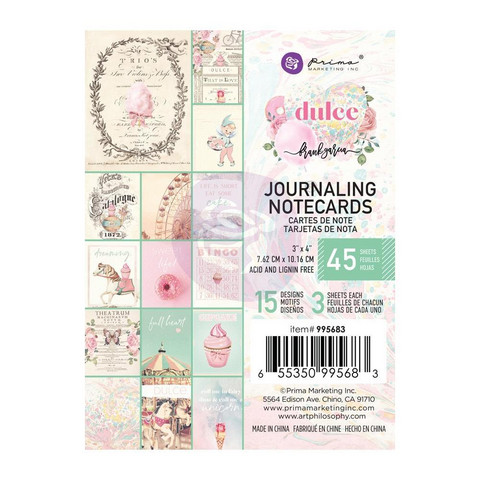 Prima Marketing - Dulce By Frank Garcia Journaling Notecards, 3