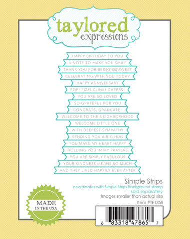 Taylored Expression - Simple Strips, Stanssi