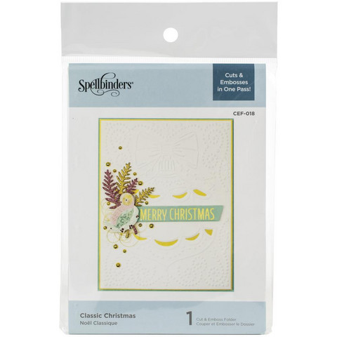 Spellbinders - Cutting Embossing Folders, Classic Christmas