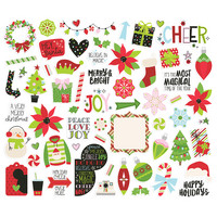 Simple Stories - Say Cheese Christmas Bits & Pieces Die-Cuts, 63 osaa