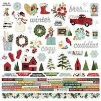 Simple Stories - Winter Farmhouse Cardstock Stickers 12
