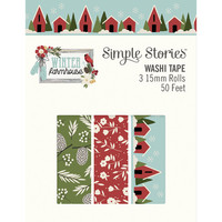 Simple Stories - Winter Farmhouse, Washi Tape, 3 rullaa