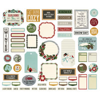 Simple Stories - Winter Farmhouse, Journal Bits & Pieces Die-Cuts, 57 osaa