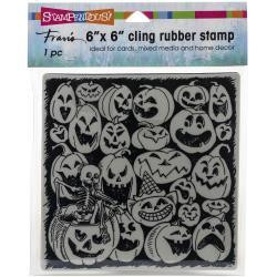 Stampendous - Cling Stamps, Pumpkin Spooks