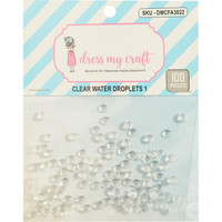 Dress My Crafts - Water Droplet Embellishments, 4mm, 100 osaa