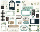 Carta Bella - Home Again Ephemera Frames And Tags, Leikekuvia, 33 kpl