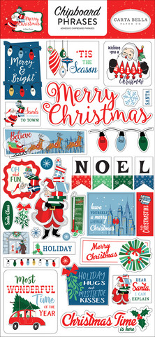Carta Bella - Merry Christmas Chipboard 6