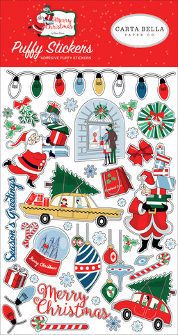 Carta Bella - Merry Christmas, Puffy Stickers