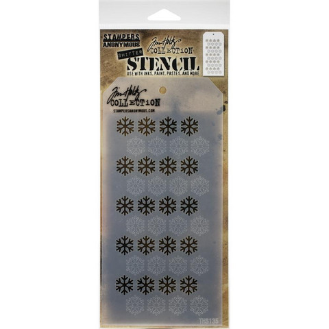 Tim Holtz - Layered Stencil, Shifter Snowflake