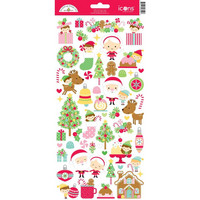 Doodlebug - Christmas Magic Icons, Cardstock Stickers