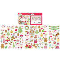 Doodlebug - Christmas Magic, Odds & Ends Die-Cuts, 105 osaa