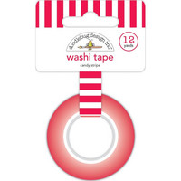 Doodlebug - Christmas Magic, Washi Tape 15mmX11m, Candy Stripe