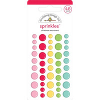 Doodlebug - Christmas Magic, Sprinkles Adhesive Matte Enamel Dots, 45 osaa