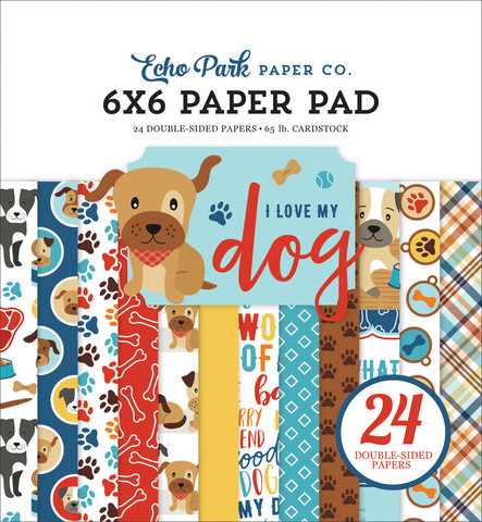 Echo Park - I Love My Dog Double-Sided Paper Pad 6