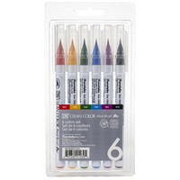 ZIG Clean Color Real Brush-setti, 6kpl